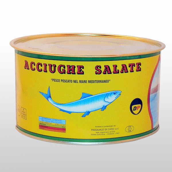 Acciughe salate Di Caro 5 Kg. Di Caro Sciacca