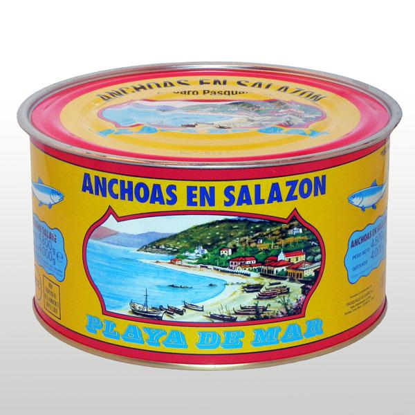 Anchoas en salazon tipo Spagna 5 Kg. Di Caro Sciacca