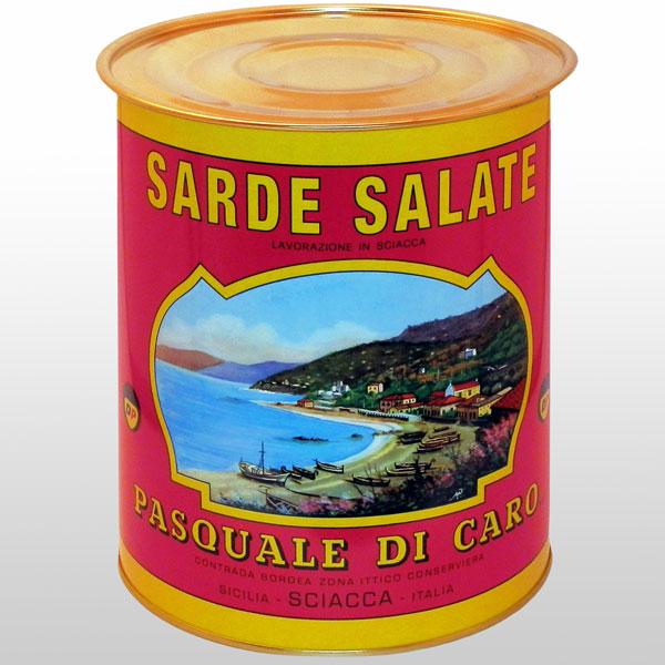 Sardine Salate Di Caro 10 Kg. Di Caro Sciacca