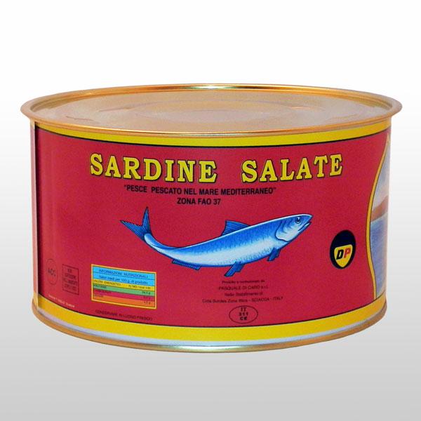 Sardine Salate Di Caro 5 Kg. Di Caro Sciacca